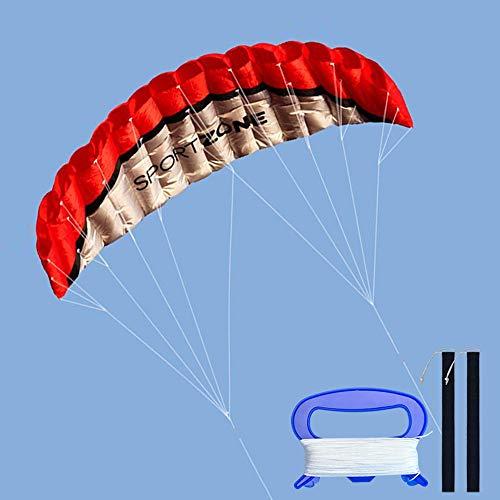 Kwasyo 2.5m Dual Line Stunt Sport Drachen mit Handgriff 30m String, Kitesurfen am Strand, Outdoor Park...