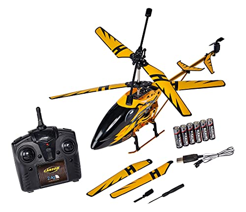 Carson 500507139 Easy Tyrann Hornet 350 2.4 GHz – Ferngesteuerter Helikopter, Robustes RTF (Ready to...