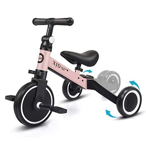 XJD 3 in 1 Laufrad Dreirad Lauffahrrad Upgrade 2.0 für Kinder 12-36 Monaten Laufräder mit abnehmbares...