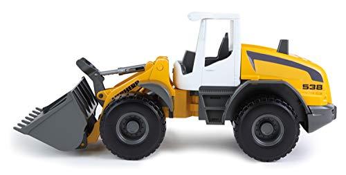 Lena 4612 Worxx Radlader Modell Liebherr L538 Litronic, ca. 48 cm, Baustellen Spielfahrzeug für Kinder...