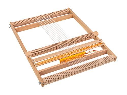 Rayher 7202300 Schul-Webrahmen, Allgäuer Webrahmen, Holz, 53,5 x 42 cm, Webbreite 40 cm, im Karton, mit...