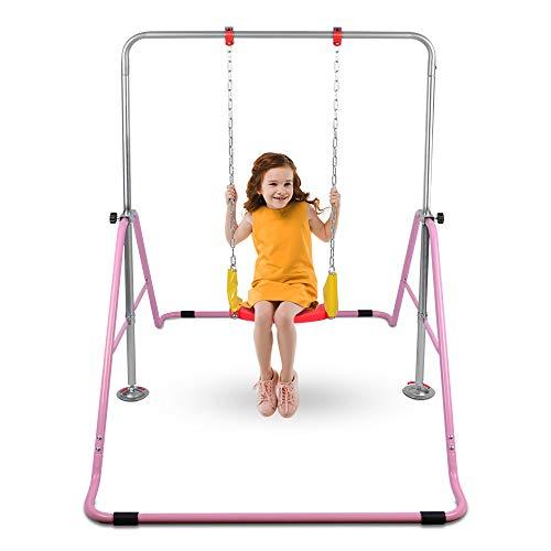 ONETWOFIT Kinder klappbare Kletterstangen mit Schaukel für die Nutzung zu Hause,...