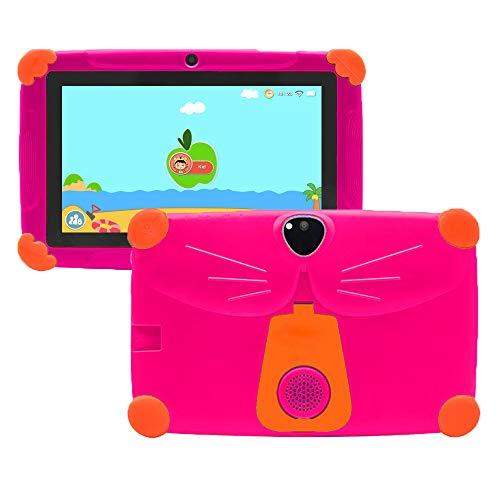 Kinder Tablet 7 Zoll 3GB +16GB Android 9 Elternkontrolle HD-Display Augenschutz, Sturzsicherer Ständer...
