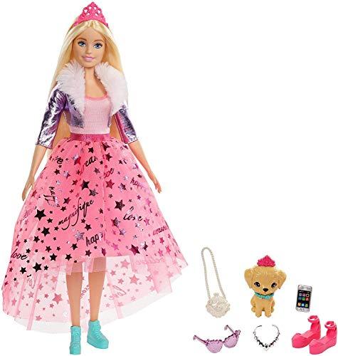 Barbie GML76 - Barbie Prinzessinnen-Abenteuer Puppe (ca. 30 cm) mit Mode und Hündchen, für Kinder von 3...