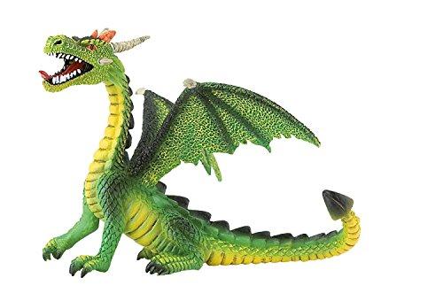 Bullyland 75593 - Spielfigur, Drache sitzend grün, ca. 11 cm groß, liebevoll handbemalte Figur,...