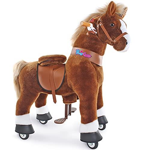 PonyCycle Offizielles mechanisches Pferdespielzeug Kinderfahrrad Kinderroller (mit Bremse und Sound/ 97...