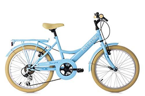 KS Cycling Kinderfahrrad 20'' Toscana blau 6Gänge RH36cm