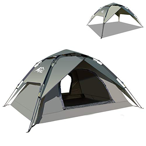 BFULL Instant Pop Up Camping Zelte für 2-3 Personen Familie, Kuppelzelte Wasserdicht Sonnenschutz...
