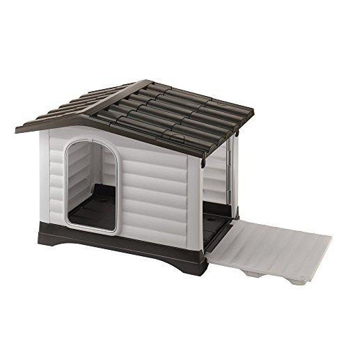 Ferplast Outdoor Hundehütte, Lodge für Hunde DOGVILLA 90 aus schlag- und UV-beständigem Thermoplast,...