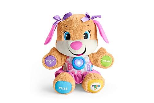 Fisher-Price FPP53 - Lernspaß Hundefreundin Baby Spielzeug und Plüschtier, Lernspielzeug mit Liedern...
