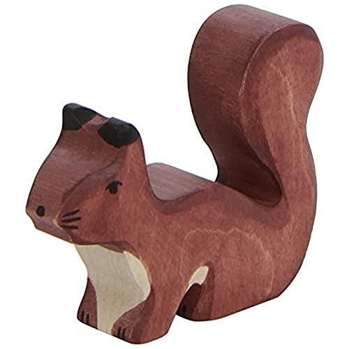 Holztiger Eichhörnchen, stehend, braun, 80108