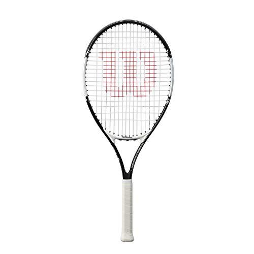 Wilson, Kinder-Tennisschläger, Roger Federer 23, Schwarz/Rot, Für Kinder mit einer Körpergröße von...