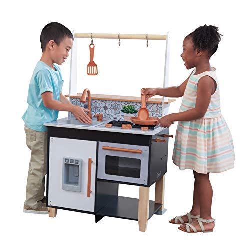 KidKraft 53441 Artisan Island Zubehör mit EZ Kraft Assembly Spielküche aus Holz für Kinder