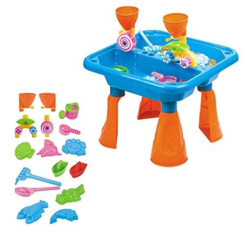 Wasserspieltisch,Spieltisch Sand, Wasser Spritzendes Sommerspaßspielzeug Sandkastentisch Spieltisch...