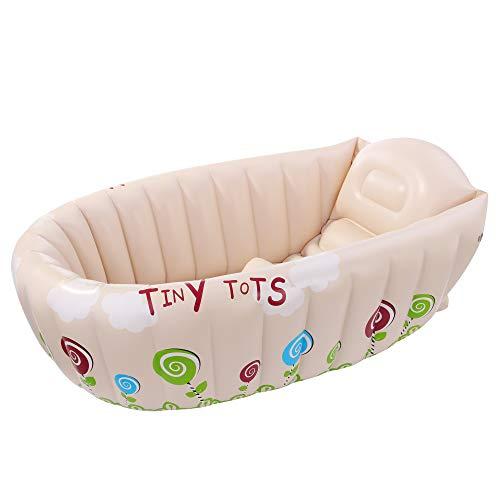 Jilong Tiny Tots Baby-Wanne Kinderwanne Badewanne Planschbecken Kinder Wassertemperatur Warnanzeige