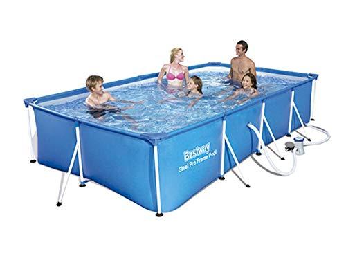 ohne Pumpe 244 x 61 cm Bestway Steel Pro Frame Pool rund blau