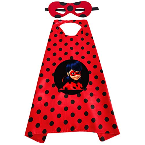 Miotlsy Karneval Ladybug Kostüm Zubehör Kinder 3-10 Jahre Fasching Halloween Carnival Overall Party...