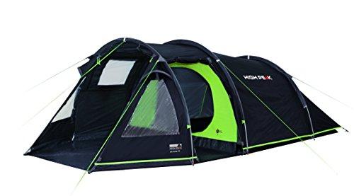 High Peak Tunnelzelt Atmos 3, Campingzelt mit Zeltboden, Trekkingzelt für 3 Personen, 2 Eingänge,...