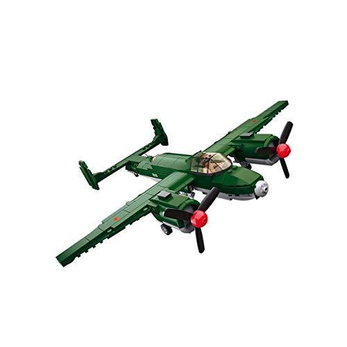 Sluban Klemmbausteine SL95559, WWII - Alliierter Bomber (312 Teile)[M38-B0688], Spielset ,...