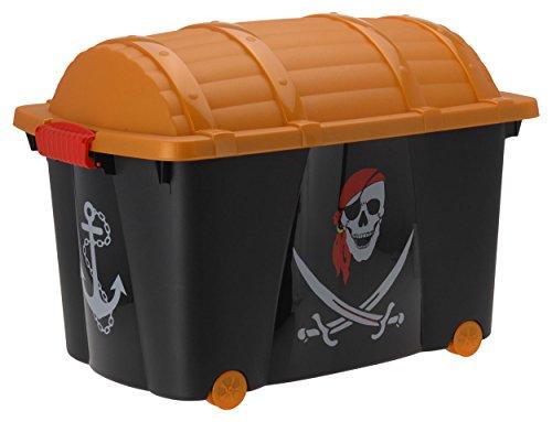 Spielzeugkiste (Multibox) mit Rollen im Piraten Design
