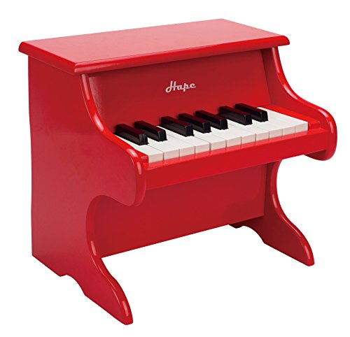 Hape E0318 Spielzeug-Klavier, Kinderinstrument, rot, ab 3 Jahre