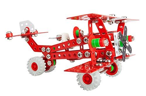 A ALEXANDER 1655 Constructor Baron Retro Flugzeug Metall Bausatz, 254 Teile Metallbaukasten,...