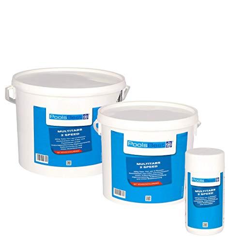 POOLSBEST® 10,2 kg Multitabs 2 Speed 7 in 1 - Chlortabletten für Pool mit 2 Phasen-Desinfektion...