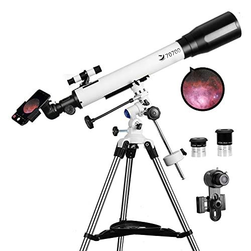 Teleskope für Erwachsene, 70 mm Öffnung und 700 mm Brennweite, professionelles...