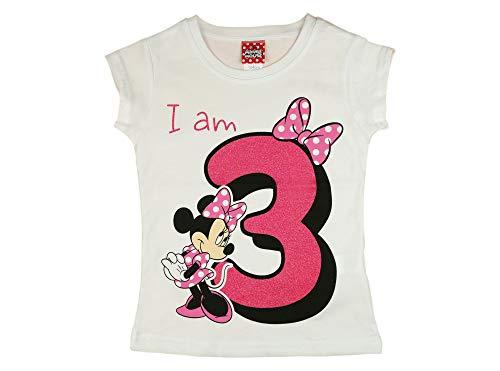 Mädchen Baby Kinder dritter Geburtstag Kurzarm T-Shirt 3 Jahr Baumwolle Birthday Outfit GRÖSSE 98 104...