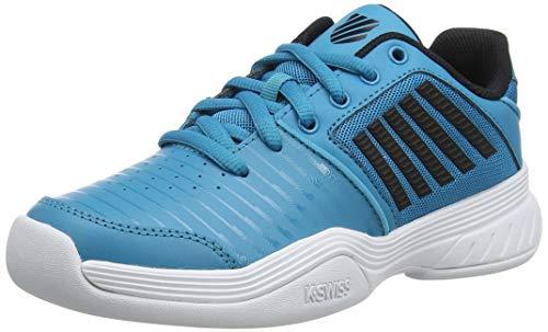 K-Swiss Performance KS TFW Court Express Carpet WHT Tennisschuh, Algiers Blue/Black/White, 34 EU