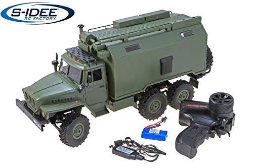 s-idee® 18182 B36 Militär Truck RC LKW Ural B36 Militär Truck LKW 6WD RTR 1:16 grün inkl Akku +...