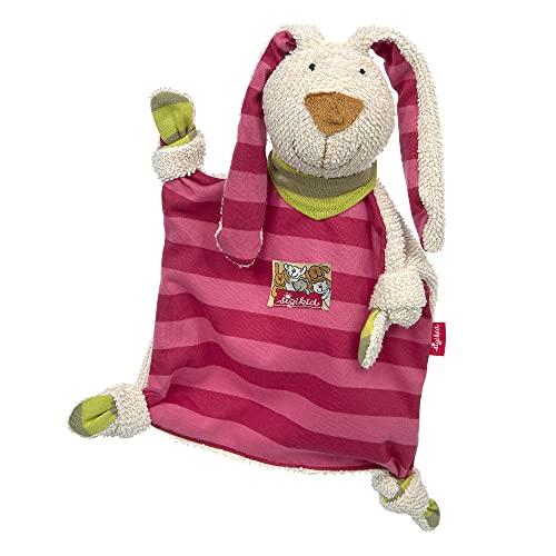 SIGIKID 40594 Schnuffeltuch Hase Kuscheltuch Mädchen Babyspielzeug empfohlen ab Geburt rosa