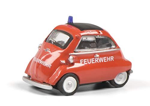 Schuco 452648700 BMW Isetta Feuerwehr, Modellauto, 1:87, rot/weiß