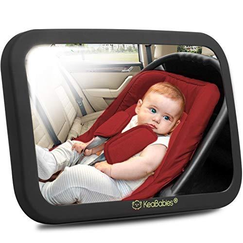 Großer Bruchsicherer Baby Autospiegel - Sicherheits Rückspiegel Baby Auto für Babyschale -...