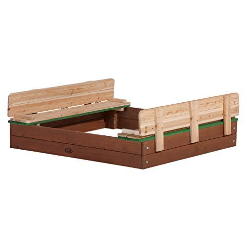 AXI Sandkasten Ella aus Holz mit Deckel XL | Sand Kasten mit Sitzbank & Abdeckung für Kinder | 120 x 120...