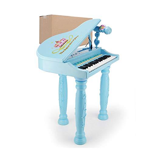 AAFF Kinder Spielzeug Grand Piano, Keyboard Hocker Mikrofon Little Princess Bildung Spielzeug-Klavier...