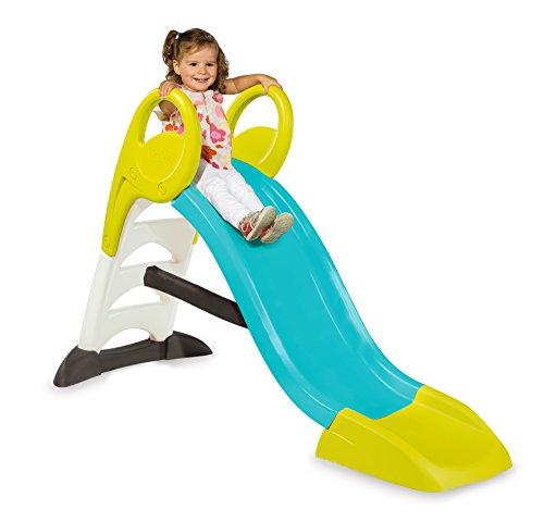 Smoby – KS Rutsche – kompakte Kinderrutsche mit Wasseranschluss, 1,5 Meter lang, mit Rutschauslauf,...