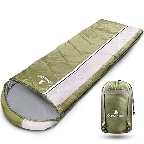 COVACURE Schlafsack Camping - Leicht, Kompakt, Wasserdicht, Warm für 4 Jahreszeiten Outdoor, 210 x 78 cm...