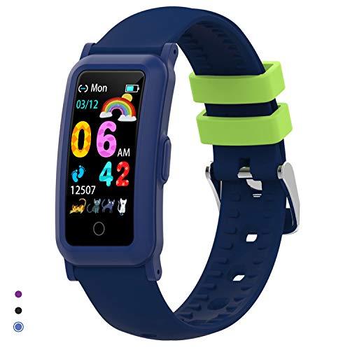 BingoFit Fitness Armband Uhr Kinder, Fitness Tracker Smartwatch mit Blutdruck Pulsmesser und...