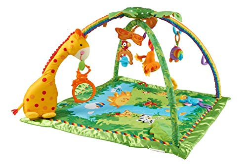 Fisher-Price K4562 - Rainforest Erlebnisdecke, Baby Krabbeldecke mit Spielzeug, Musik, Lichtern und...