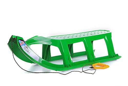 Unbekannt Schlitten Kinderschlitten Rodel aus Kunststoff Zugseil Metallkufen Tatra 3 Farben (Grün)