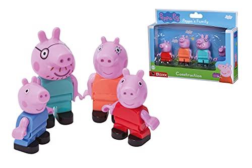 BIG-Bloxx Peppa Pig Peppa´s Family - Mama und Papa Wutz, Schorsch und Peppa, Ergänzung zu den...