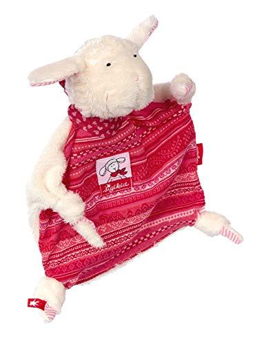 sigikid, Mädchen, Schnuffeltuch, Schaf Schnuggi, Rosa/Weiß, 48173
