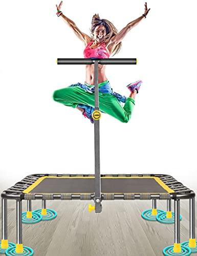 Fitness Trampolin Max. Laden Sie 220lbs Einfache Installation Klappbar Mini Trampoline für Kinder Indoor...