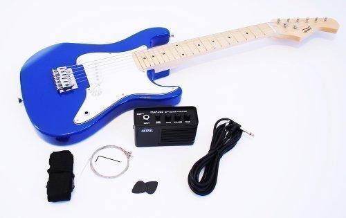 1/2 Kinder E-Gitarre Set mit Verstärker und Zubehör (blau)