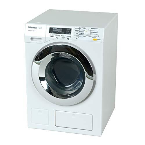 Theo Klein 6941 Miele Waschmaschine I Vier Waschprogramme und Originalgeräusche I Funktioniert mit und...