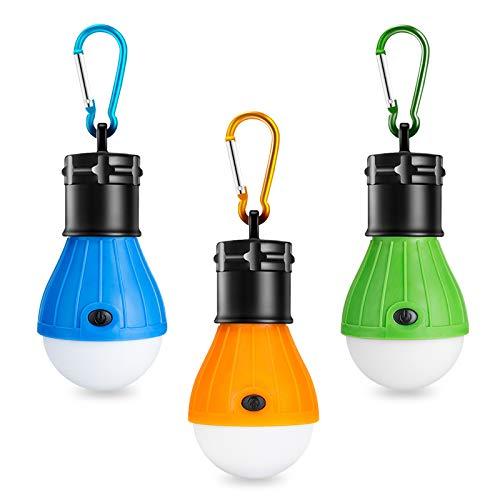 Winzwon Campinglampe, LED Camping Laterne, Tragbare Zeltlampe Laterne Glühbirne Set-Notlicht COB 150...