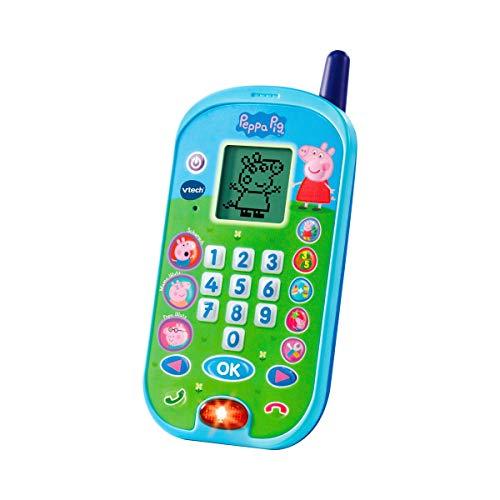 Vtech 80-523104 Peppas Lerntelefon Spielzeugtelefon, Mehrfarbig