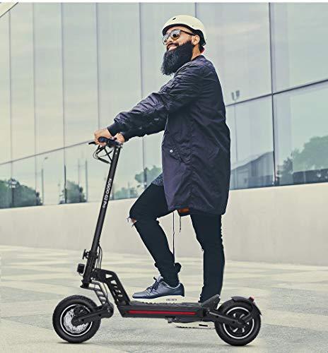 E Scooter, Elektro Scooter 40km/h, 12.5Ah 800W schnell Elektroscooter Klappbar E Roller Faltbar, bis zu...