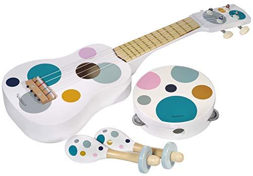 Kindsgut Musikinstrumenten-Set mit Gitarre/Rasseln